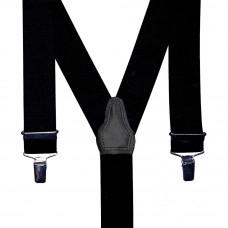 bretel 3 clips zwart 35 mm breed 120 cm lang