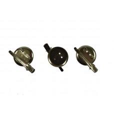 broche speld 3 cm met haarklem  (5 stuks)