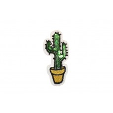 cactus patch in pot met pailletten