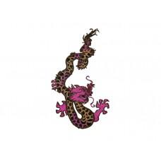 chinese draak met paarse kop rechts