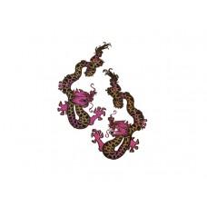 chinese draken set met paarse kop