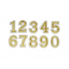 cijfer opstrijkbaar goud