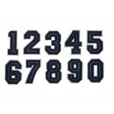 cijfer patch opstrijkbaar marine blauw