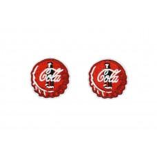 cola dopjes applicaties opstrijkbaar 2 stuks