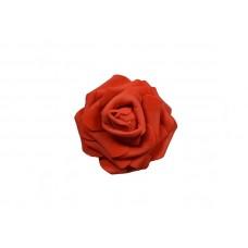 corsage rood roos met haarklem