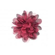 corsage tule fuchsia zwart glitter