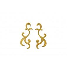 decoratieve patch set goud geborduurd 10x4cm