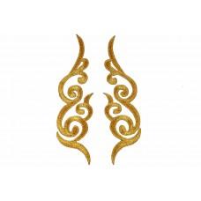 decoratieve patch set goud geborduurd 15x4,5cm
