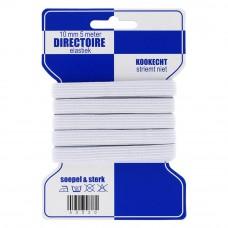 directoire elastiek 10 mm breed wit 5 meter