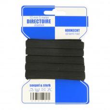directoire elastiek 10 mm breed zwart 5 meter