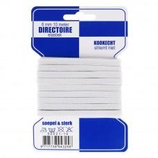 directoire elastiek 6 mm breed wit 10 meter