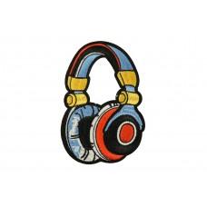 DJ koptelefoon patch 12 x 8 cm