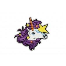 eenhoorn patch paars haar
