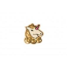 eenhoorn patch pailletten gouden manen