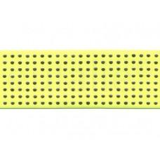 elastiek 6 cm fluor geel met gouden studs