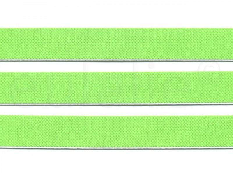 elastiek fluor groen 2.5 cm