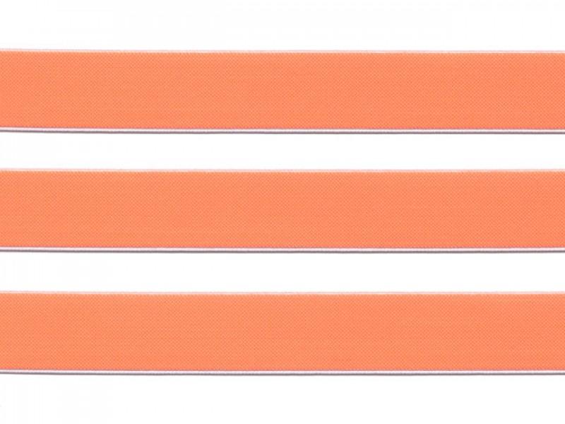 elastiek fluor oranje 2.5 cm