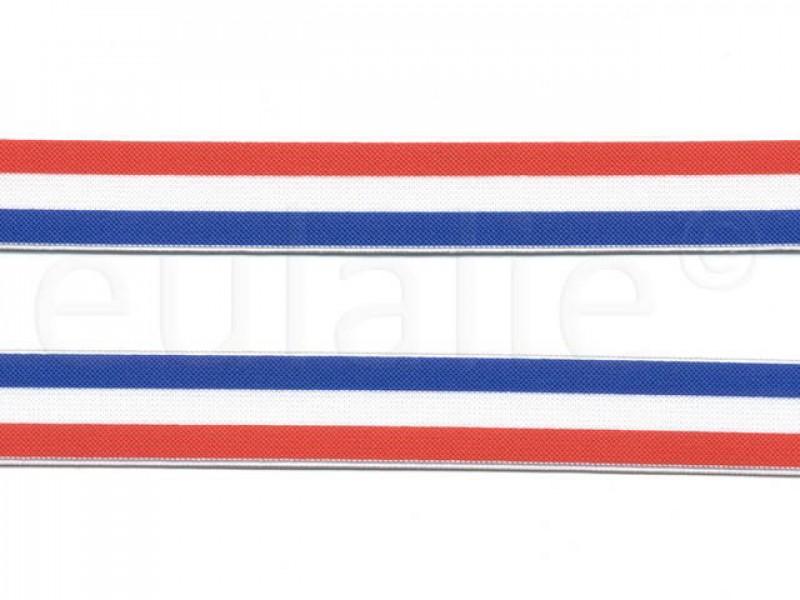 elastiek rood wit blauw 2.5 cm