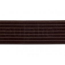 elastiek satijn donkerbruin 6 cm