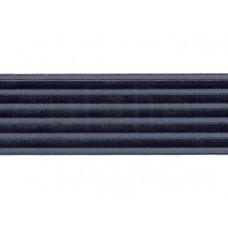 elastiek satijn donkergrijs 6 cm