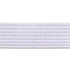 elastiek satijn wit 6 cm