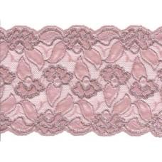 elastisch kant 15 cm poeder roze