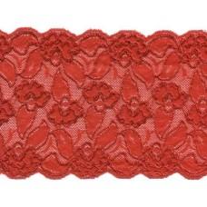 elastisch kant 15 cm rood