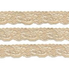 elastisch nylon kant 3 cm beige