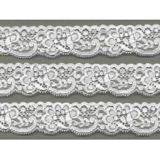 elastisch nylon kant 3 cm off white