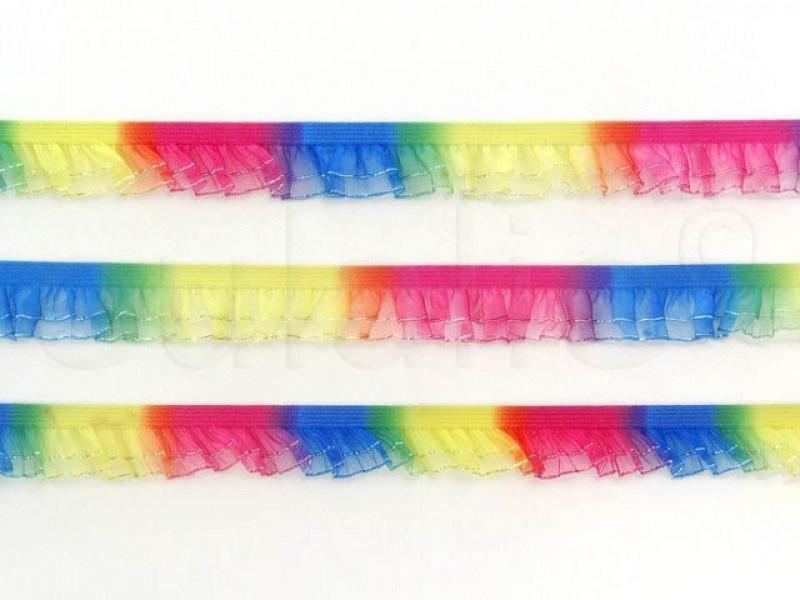 elastisch ruche regenboog