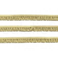 elastische lurex ruche galon goud