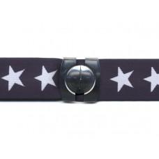 elastische riem marineblauw met sterren