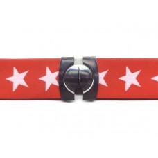 elastische riem rood met sterren