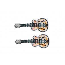 elektrische gitaar patch wit 2 stuks
