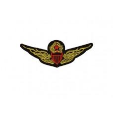 embleem applicatie gouden vleugels