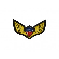 embleem applicatie gouden vleugels USA vlag