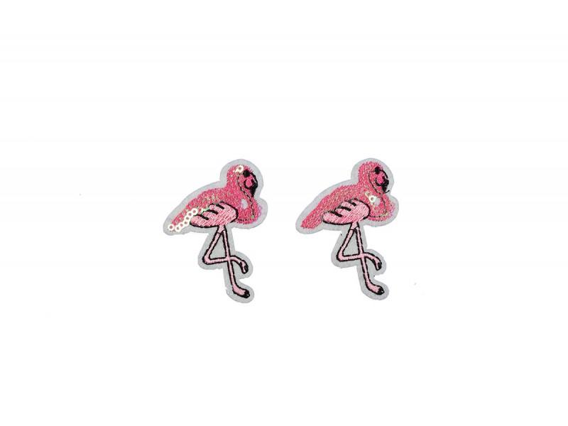 flamingo patch pailletten 2 stuks