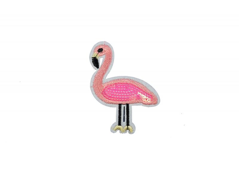 flamingo patch pailletten