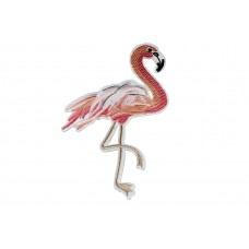 flamingo patch roze met glitter