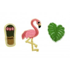 flamingo patch set
