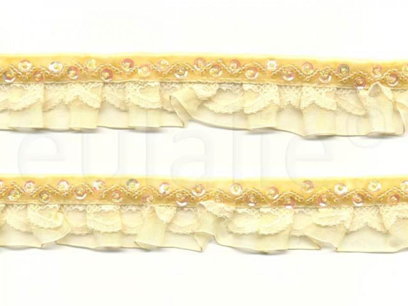 fluweelband met ruches