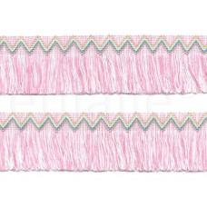 franjeband boho-chic roze parelmoer