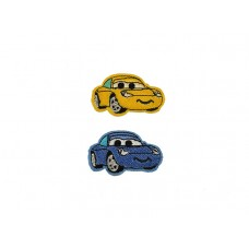fun car applicatie set geel en blauw