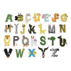 funletter dieren alfabet set (26 stuks)