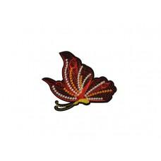geborduurde applicatie vlinder rood