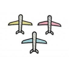 gekleurde vliegtuigjes patch set 3 stuks