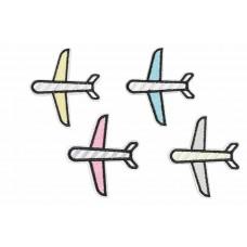 gekleurde vliegtuigjes patch set 4 stuks