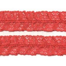 gerimpeld kant rood 5 cm