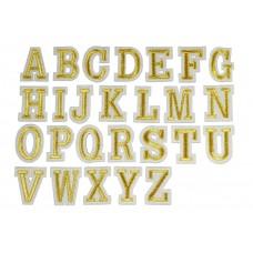 gouden alfabet letter patch set A t/m Z (26 stuks)