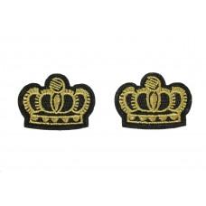 gouden kroon patch 2 stuks